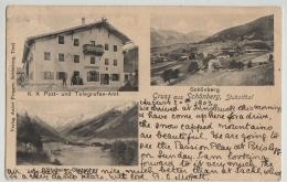 PC,GRUSS AUS SCHONBERG,STUBAITHAL, 3 VIEWS,POST UND TELEGRAFEN,ETC,1903 - Innsbruck