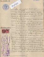 VP5865 - SAINTE LIVRADE - Acte De 1937 - Attestation Notariée Succession TOURRET à ALLEZ ET CAZENEUVE - Manuscrits