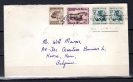 Afrique Du Sud 1958,  Jaguar, Phacochère Sur Lettre