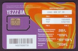 UKRAINE. YEZZZ! GSM SIM CARD WITH CHIP. TYPE I. Unused Mint Condition. ED 31.12.2017 - Ukraine
