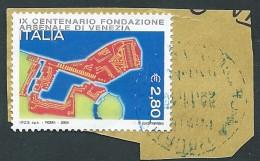 Italia 2004; Arsenale Di Venezia Su Spezzono. Usato - 6. 1946-.. Repubblica