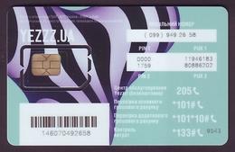 UKRAINE. YEZZZ! GSM SIM CARD WITH CHIP. TYPE II. Unused Mint Condition. ED 31.12.2017 - Ukraine