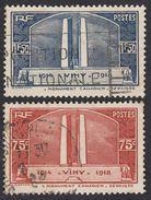 FRANCE Francia Frankreich - 1936, Série Complète Obliterée Yvert 316/317