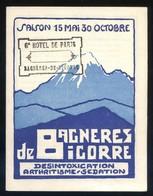 *Bagneres De Bigorre* Doble Díptico. Meds: 106 X 138 Mms. - Folletos Turísticos