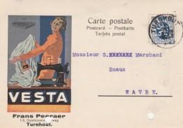 TURNHOUT ,publicité  VESTA, Machine à Coudre , Frans Peeraer ( Grand Format 14,4 X 10,3 Cm ) - Turnhout