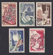 FRANCE Francia Frankreich - 1954, Série Complète Obliterée Yvert 970/974 - France