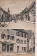 67-DIEMERINGEN- 2 VUES - GRAND RUE ET MAGASINS REUNIS- BELLE CARTE - France