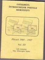 CATALOGUE POSTAL STATIONERY  COVERS 1905-1997 ROMANIA