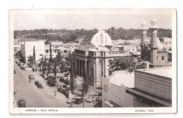 Uganda Kenya Tanganyika USED STAMPS Kenya GENERAL VIEW Nairobi 1950s Postcard - Kenya