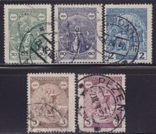 5625. Czechoslovakia 1929 Wenceslaus I, Duke Of Bohemia, Used (o) Michel 283-287 - Tschechoslowakei/CSSR