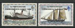 FALKLAND ISLANDS 1982  SHIPS  OVERPRINTED  SET MNH - Boten