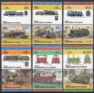 St. Vincent - Bequia - Lokomotieven/Lokomotiven/Locomotivs (IV) - MNH - M 126-137 - St.Vincent (1979-...)