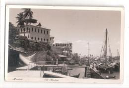 Uganda Kenya Tanganyika USED STAMPS Kenya MOMBASA OLD HARBOUR 1950s Postcard - Kenya