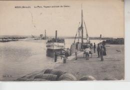 34 - MÈZE - Le Port, Vapeur Arrivant De Cette - Carte Animée - Mèze