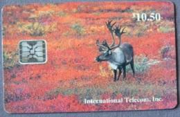 Alaska - ASK- 03, Caribou In Fall - Denali National Park, 10.50$, 4.000ex, 11/93, Used - Phonecards