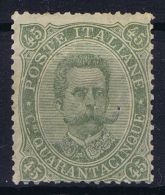 Italy: Sa Nr 46  Mi Nr 51 MH/* Falz/ Charniere  Part Gum  1889 Has A Pinhole