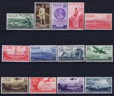 Italy: Sa Nr 398 - 405 + A95 - A99  Mi Nr 547 - 559 MH/* Falz/ Charniere 1936 - 1900-44 Vittorio Emanuele III
