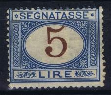 Italy: Segnatasse 1870 Sa 13  MI Nr 13   MH/* Falz/ Charniere  Signed/ Signé/signiert/ Approvato - 1900-44 Vittorio Emanuele III
