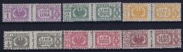 Italy: Pacchi Postali 1946 Sa 60 - 65   MI Nr  60 - 65 MNH/**/postfrisch/neuf Sans Charniere 2 Left Top Incomplete  Gum - 5. 1944-46 Lieutenance & Umberto II