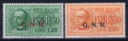 Italy:  Espresso Sa 19 + 20 Mi 33 + 34    MNH/**/postfrisch/neuf Sans Charniere - 4. 1944-45 Repubblica Sociale