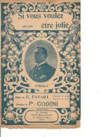 Partition- Si Vous Voulez Etre Jolie - Paroles: Favart -- Musique: P. Codini - Non Classés