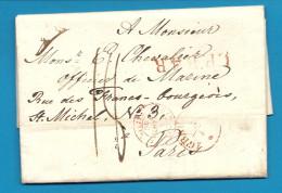 Pays Bas - S'GRAVENHAGE Pour Un Officier De La Marine. Cachet D'entrée Par Valenciennes. Ecrite à LA HAYE - Postmark Collection (Covers)