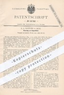 Original Patent - E. A. Naether In Zeitz , 1881 , Klappstühle | Stuhl , Stühle , Schaukelstuhl , Möbel , Möbelbauer !!! - Historische Documenten