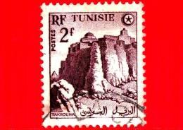 TUNISIA - Usato - 1954 - Emissioni Definitive - Takrouna - 2 - Oblitérés