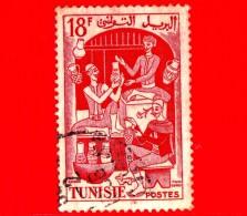 TUNISIA - Usato - 1955 - Lavoro - Ceramica - Pottery - 18 - Oblitérés