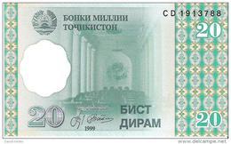 Tajikistan - Pick 12 - 20 Diram 1999 - Unc - Tagikistan