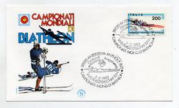 Italia- 1983 -Busta FDC - Campionati Del Mondo Di Biathlon - (FDC1253)