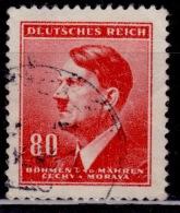 Bohemia & Moravia, 1942, Adolf Hitler, 80h, Used - Bohemia & Moravia