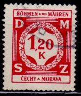 Bohemia & Moravia, 1939, Postage Due, Used - Bohemia & Moravia