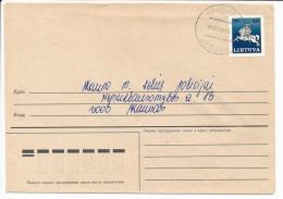 Mi 494 Solo Domestic Cover - 27 June 1993 - Lithuania