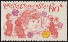 Czechoslovakia / Stamps (1975) 2140: Czechoslovak Spartakiad 1975 (exercises For Children); Painter: Ivan Strnad