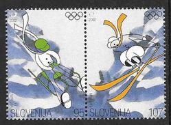 Slovenia: 2002 Winter Olympic Games, Salt Lake City USA, 2v Se Tenant MNH - Slovénie