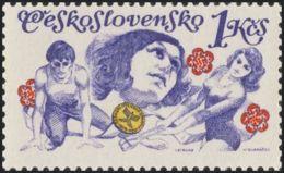 Czechoslovakia / Stamps (1975) 2141: Czechoslovak Spartakiad 1975 (exercises For Men And Women); Painter: Ivan Strnad