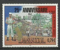MAYOTTE 2001 25th ANNIVERSARY OF D.L.E.M MNH - Mayotte (1892-2011)