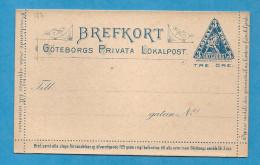 Suède / SWEDEN - Entier Postal De La Post Locale Privée De GOTEBORG .  GOTEBORG PRIVATA LOKALPOST