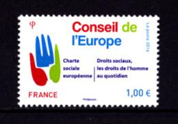 France 2016,  1.00 €, Conseil De L'Europe, Droits De L'hommme - France