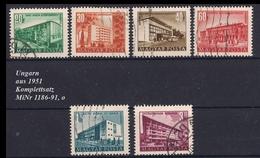 Ungarn Aus 1951 , Komplettsatz MiNr 1186-1191 ,o