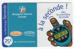 ANTILLES FRANCAISES RECHARGE BOUYGUES 25€ Date 10/2002 - Antilles (Françaises)