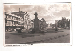Uganda Kenya Tanganyika USED STAMPS Kenya EVENING DELAMERE AVENUE NAIROBI 1950s Postcard - Kenya
