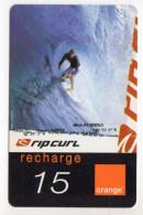 REUNION RECHARGE ORANGE 15€ Date 07/2003 - Reunion