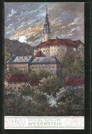 AK Weesenstein, Blick Zum Kgl. Schloss - Weesenstein A. D. Mueglitz