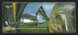 RJ)2016 MEXICO, TUNNEL-SOLAR CELLS-DAM, 60 YEARS OF UNAM'S INSTITUTE OF ENGINEERING, MNH - Mexico