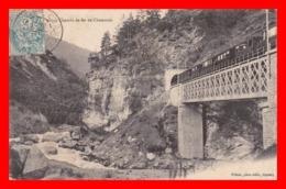 CPA  (74) CHAMONIX. Chemin De Fer De Chamonix, Train Sur Pont ...C084 - Trains