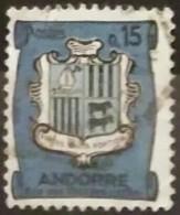 ANDORRA FRANCESA 1936 -1938 Escudo Nacional. USADO - USED
