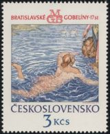 "Czechoslovakia / Stamps (1975) 2147: Bratislava Tapestries ""Janthe Announces Hero The Arrival Of Leandra"""