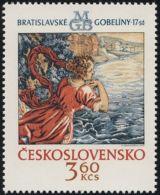 "Czechoslovakia / Stamps (1975) 2148: Bratislava Tapestries ""Hermione Talking Leander Way"""